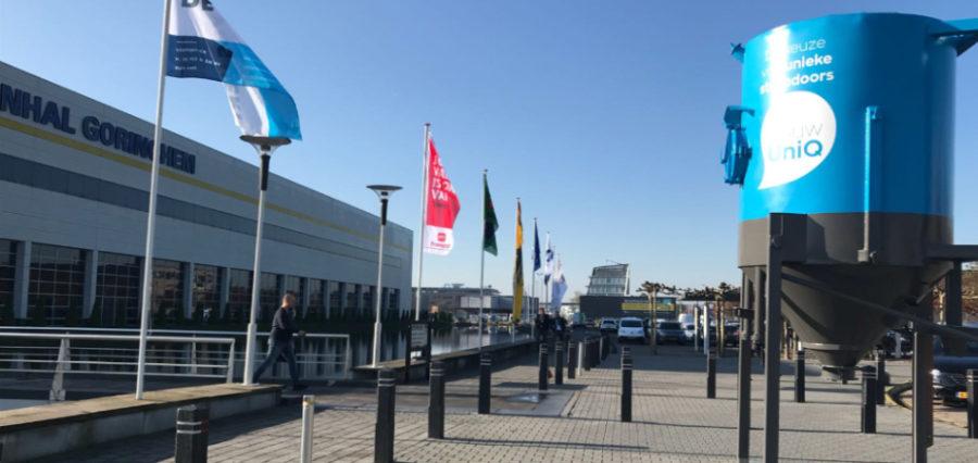 De silo van AfbouwUniQ op de SGA Vakdagen in Gorinchem afgelopen maand.