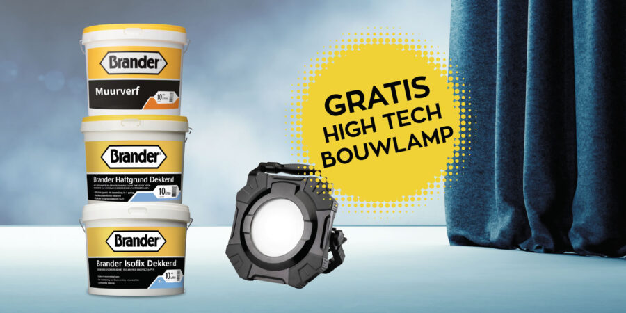 Gratis high tech bouwlamp!